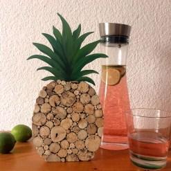 Holzdekoration Ananas aus Treibholzscheiben