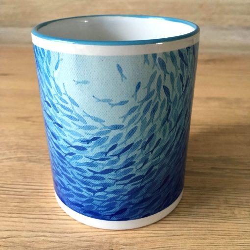 Kaffebecher Motiv Fische