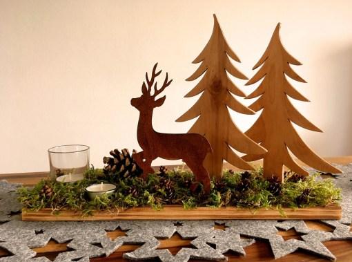 Winterdeko Hirsch Wald