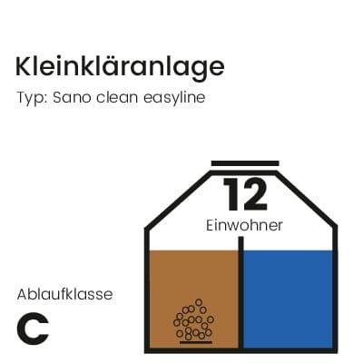 Kleinkläranlage-sano-clean-easyline-ablaufklasse-C-12EW