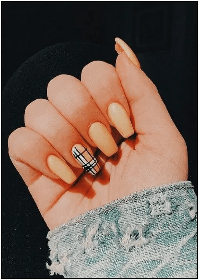 Pretty Acrylic Coffin Nails Design