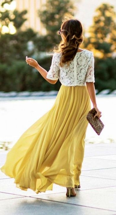 Fashionable Maxi Skirt Outfits Ideas To Impress