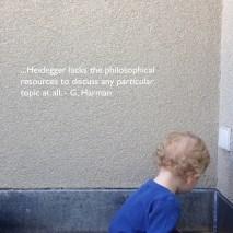 Harman vs. Heidegger