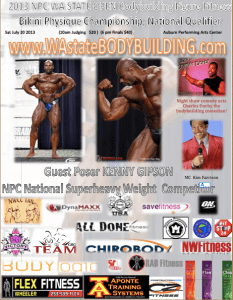 Guest poser Kenny Gipson Wa state bodybuilding