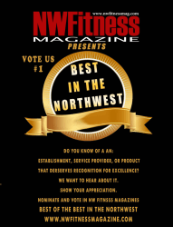 Best In The NW - Award of Excellence, Presented by Williams Productions & NW Fitness Magazine