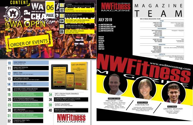 NW Fitness Magazine – 2019 Wa State Fitness Expo Event Program Issue