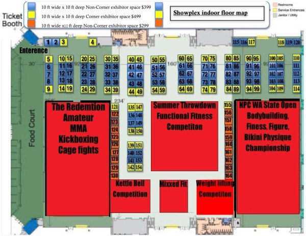 Fitness expo floor plan