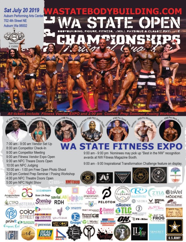 2019 Wa State Open Bodybulding Figure Fitness Bikini Physique, Classic Physique Championship, National Qualifier