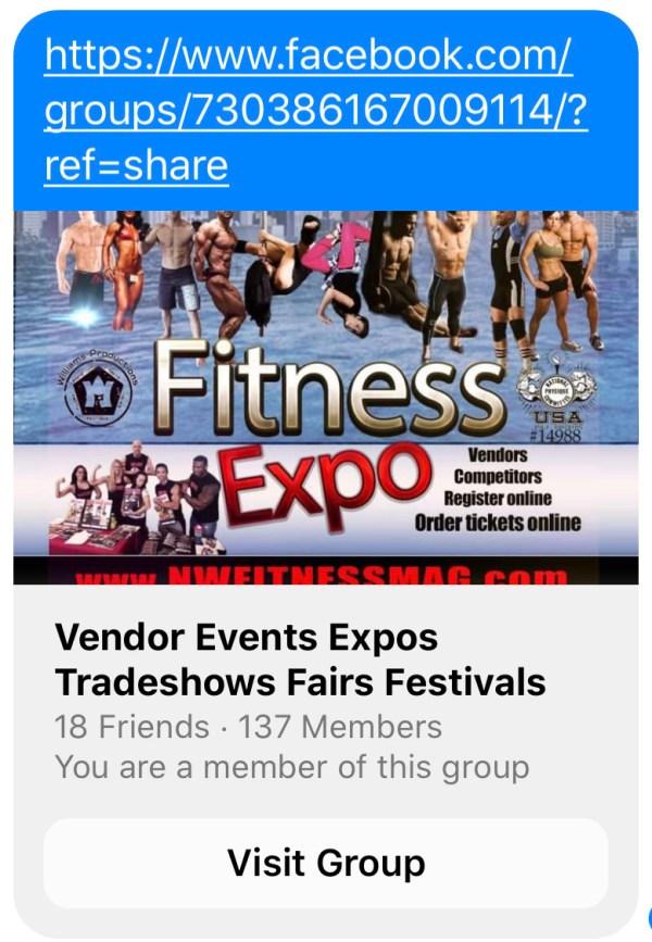 Facebook Group: Vendor Events Expos Trade-shows Fairs Festivals