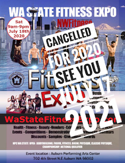 2020 Wa Fitness Expo canceled. See you in 2021