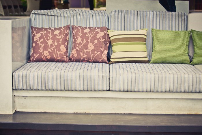 DIY scattered cushions