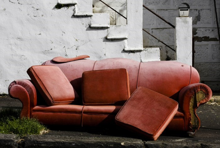 Getting Rid of Unwanted or Broken Furniture