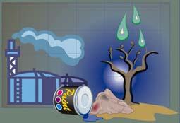 Contaminacion del aire en Waste magazine