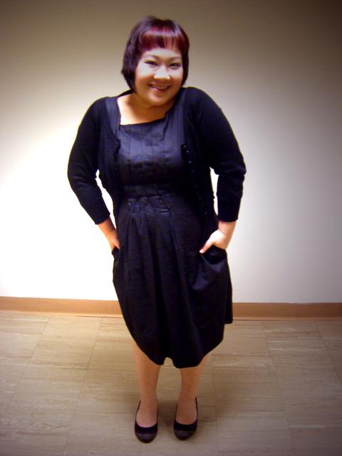 Grey pleated front dress from ZARA BASIC