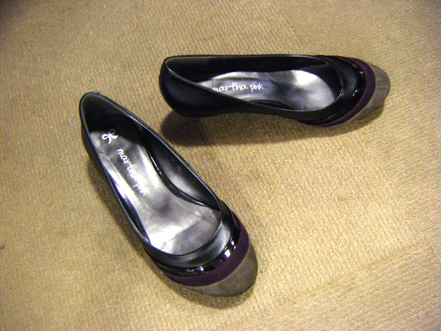 """1"""" low heels from Tang's brand MARTINA PINK"""