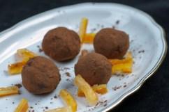 ORANGE PEEL: Dark chocolate orange truffels