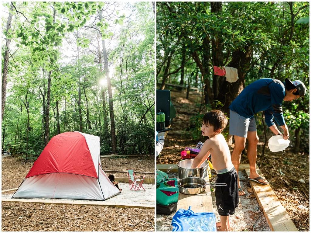 camping devil's fork state park