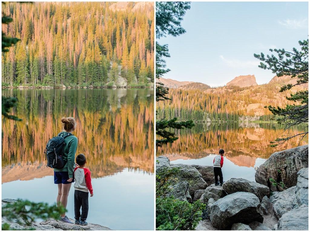 sunrise at bear lake rocky mountain national park