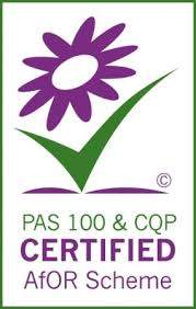 Image is a logo for the PAS100 Accredited Quality Protocol.