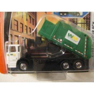 Mattel Matchbox 2009 Autocar ACX Garbage Truck Real Working Rig 1:64 Diecast Green WM Waste Management