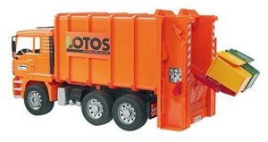 MAN Garbage Truck rear loading orange