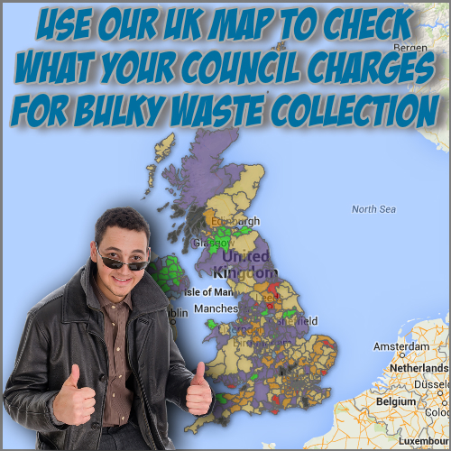 Image shows Local Council Bulky waste charges UK