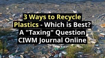 Illustration of the 3 Ways to Recycle Plastics