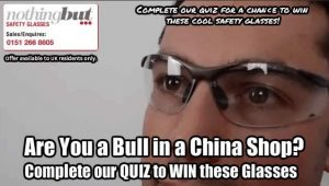 Image features our safety glasses quiz.