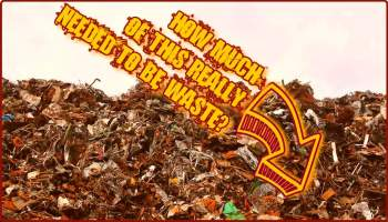 Image explains how to reduce waste in manufacturing by a rusty illustration.