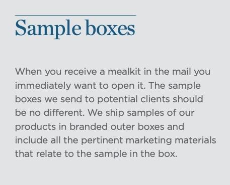 eco-Packaging samples