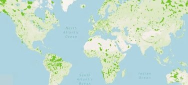 map of conserved land around the world