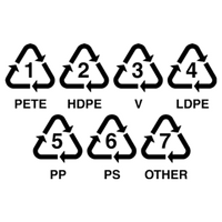Other recyclable items include items marked with the plastic recycling symbol.