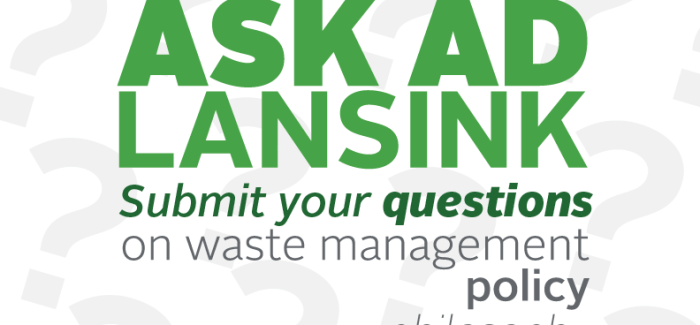 Ask Ad Lansink, inventor of #LansinkLadder, about waste management