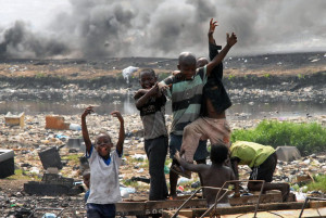 Agbogbloshie Dumpsite in Accra, Ghana; Photo by Seth.