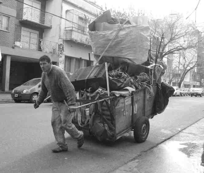Communities around the world transport, sort through, and upcycle waste. In Mexico, where this photo was taken, these communities are called cartoneros.