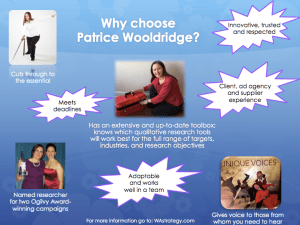 Patrice Wooldridge Hightlights