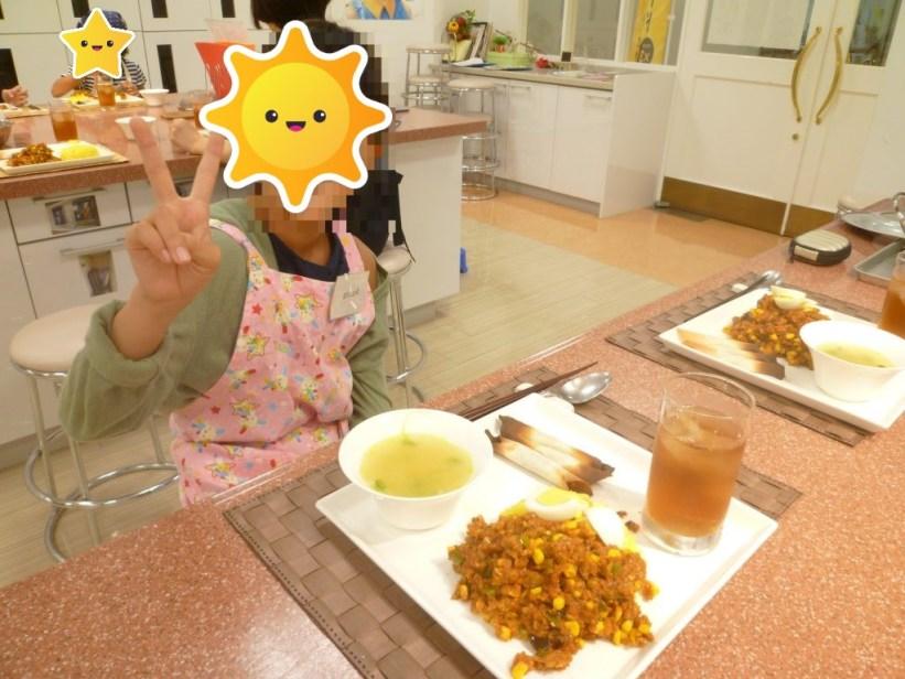 料理教室に親子で参加