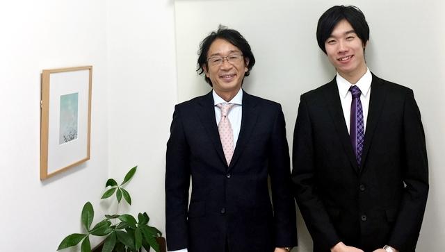 竹内代表と渡邊カウンセラー