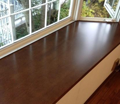 窓枠と出窓天板の再塗装