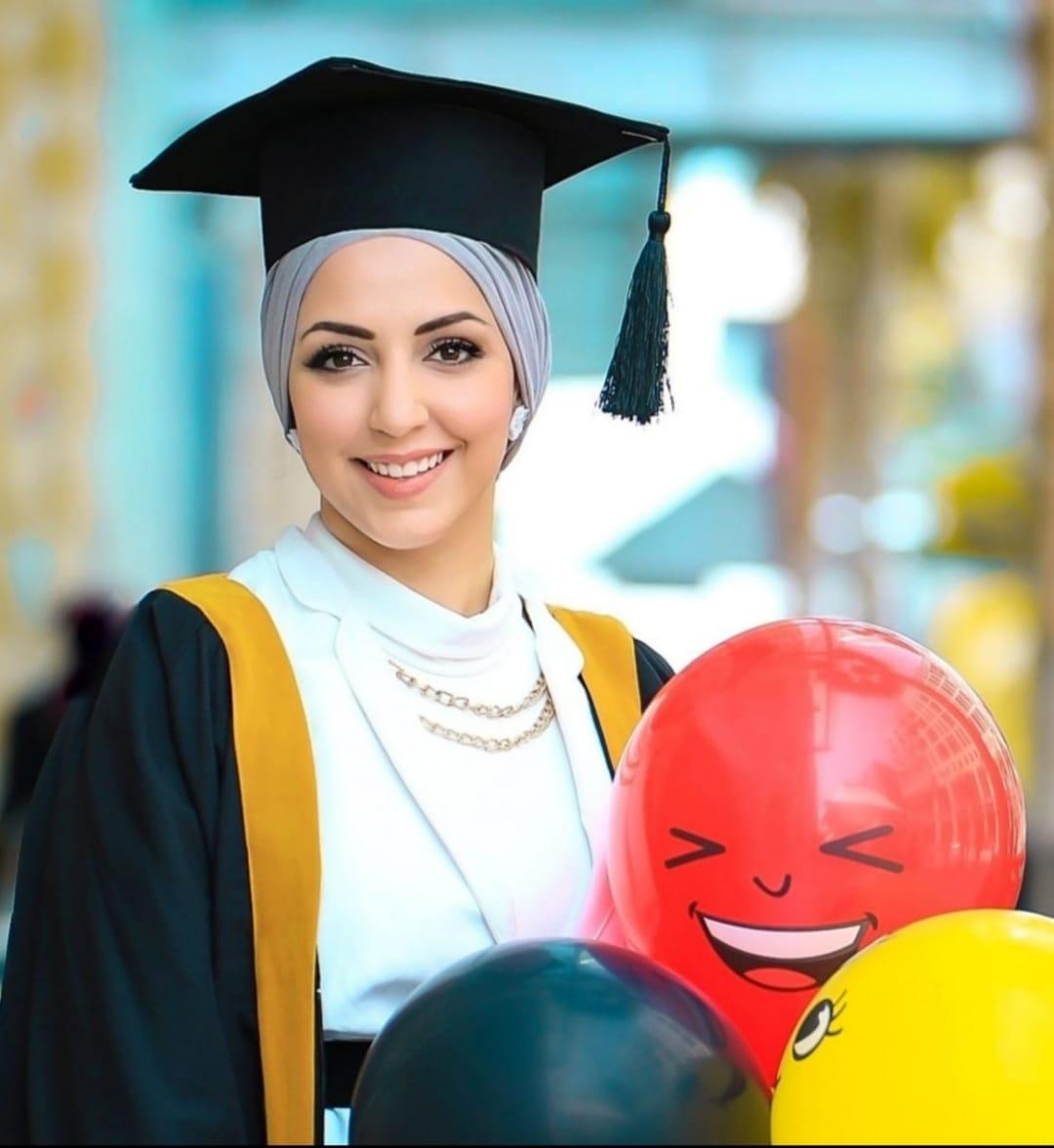 تهنئة للمهندسة نعمات حسين الديسي بمناسبة حصولها على الماجستير في هندسة العمارة