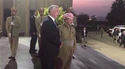 بارزاني يستقبل وزير الدفاع البريطاني مايكل فالون