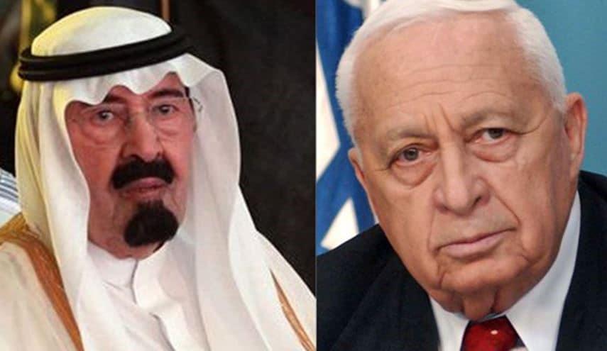شارون مع الملك عبد الله بن عبد العزيز