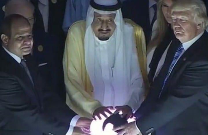 ترامب والملك والسيسي