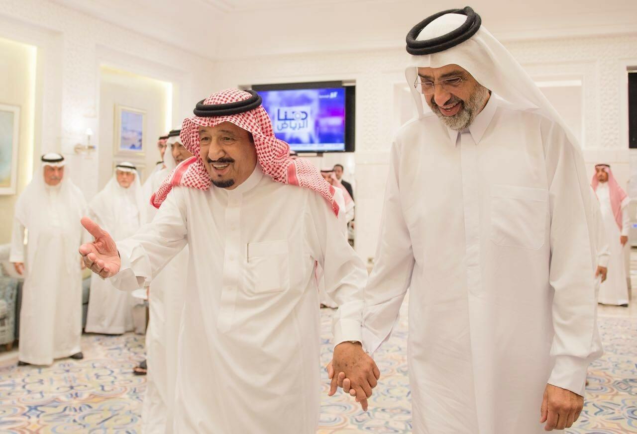 عبد الله ال الثاني والملك سلمان