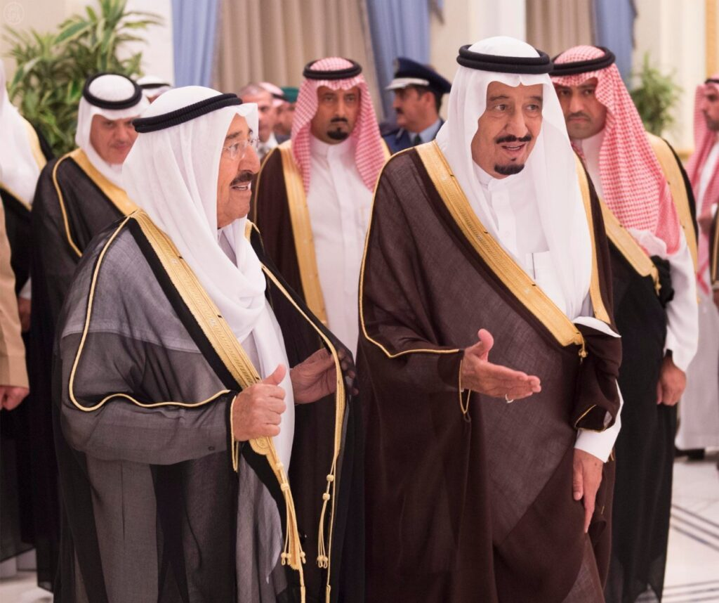 الملك سلمان وصباح الاحمد