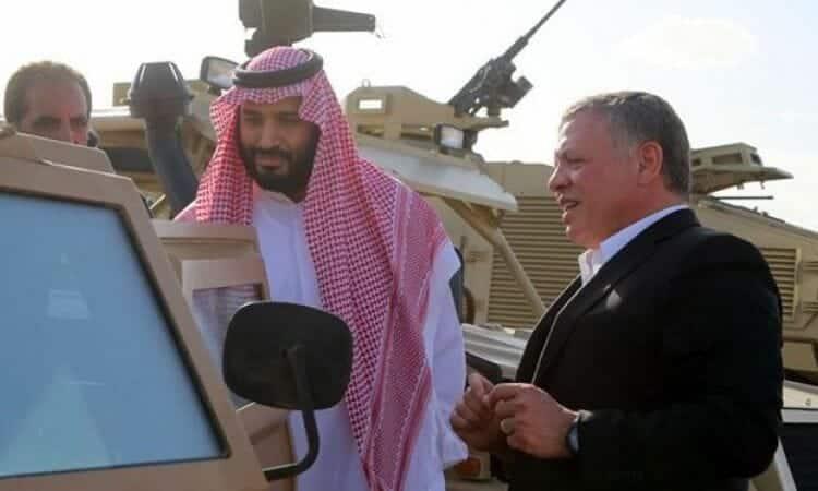 عبد الله الثاني ومحمد بن سلمان