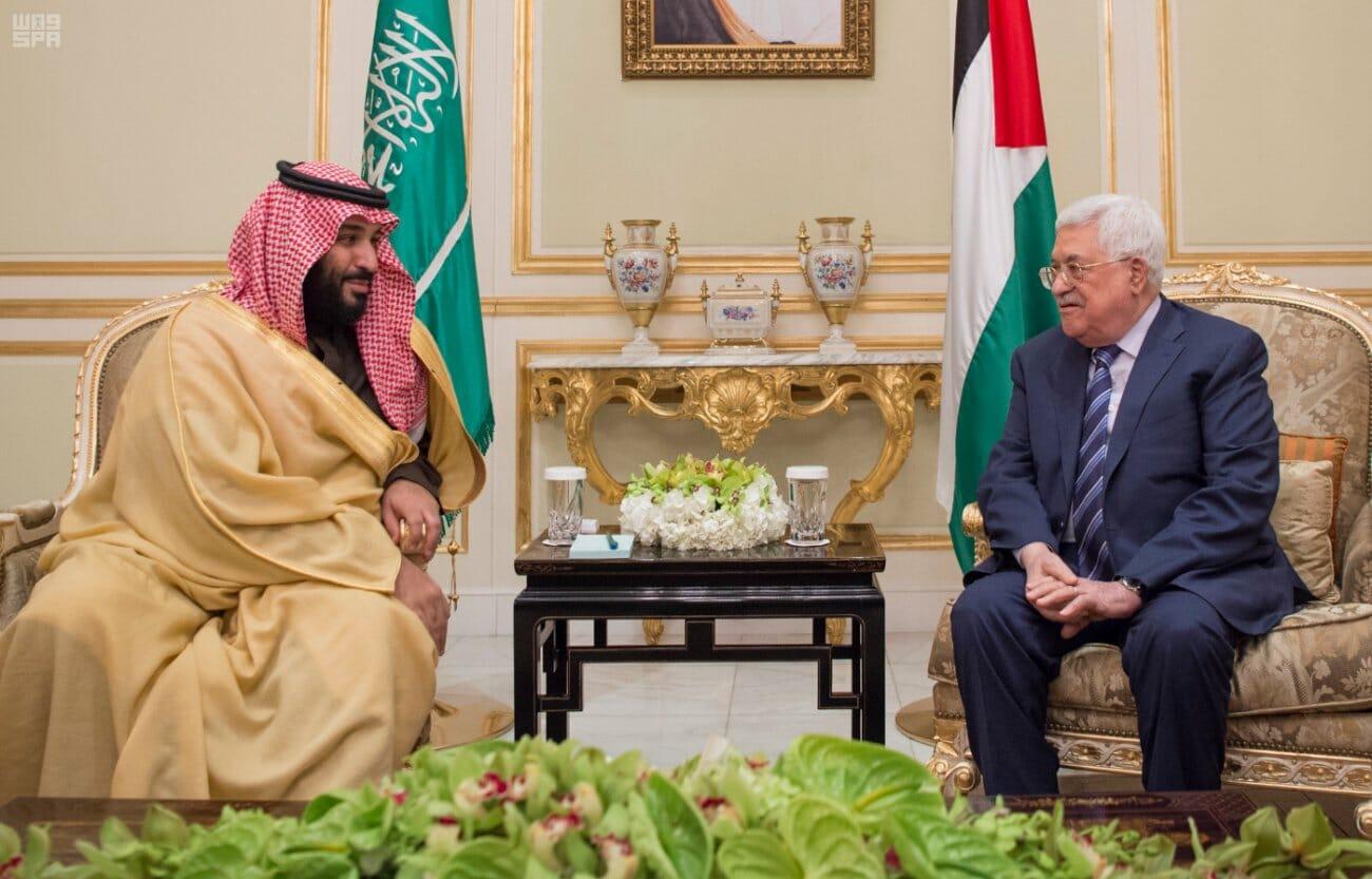 محمود عباس ومحمد بن سلمان