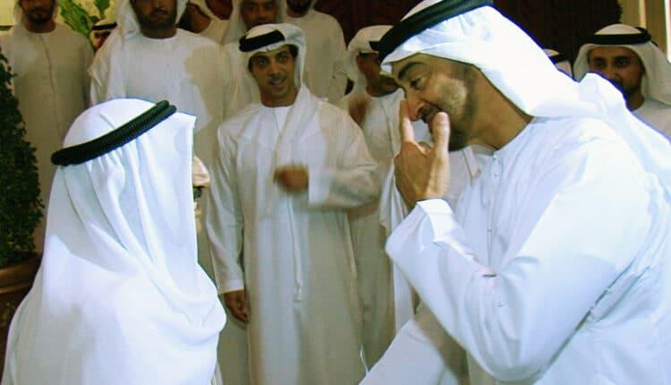 صباح الاحمد ومحمد بن زايد