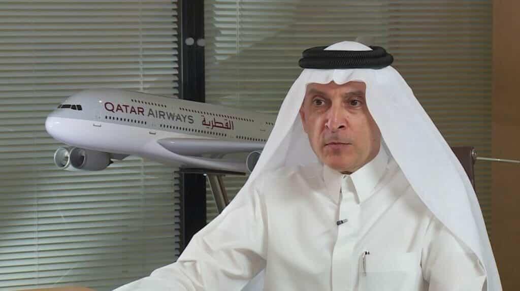 """""""لا شراكة مع أعداء الدوحة"""".. رئيس الخطوط الجوية القطرية يهاجم أبوظبي ويرفض هذه الصفقة"""
