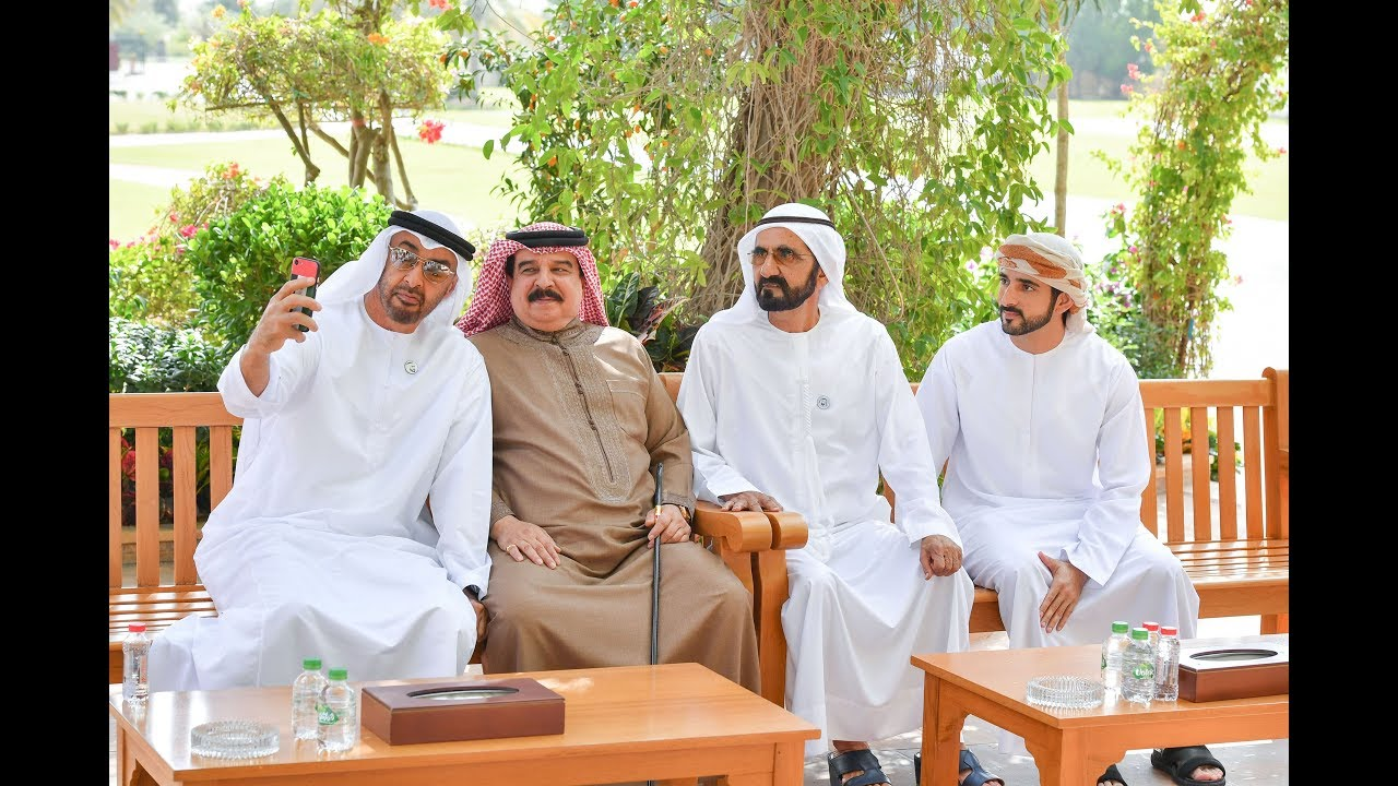 استقبال البحرين محمد راشد ومحمد بن زايد